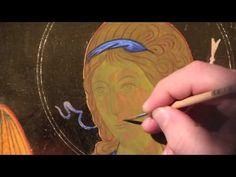 Dipingere l'icona di un Angelo: 10.1 - Volto - dare la forma - YouTube