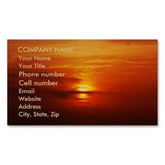 Sunset at Sea Business Cards by birdersue from Zazzle - Digital photography and design by Sue Melvin