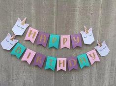 "Unicorn ""Happy Birthday"" Banner – RandomRegalia"