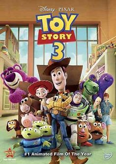 Toy Story 3 [PN1997.2 .T697 2010] The toys are mistakenly delivered to a day-care center instead of the attic right before Andy leaves for college, and it's up to Woody to convince the other toys that they weren't abandoned and to return home. Director:Lee Unkrich Writers:John Lasseter (story), Andrew Stanton (story), Stars:Tom Hanks, Tim Allen, Joan Cusack