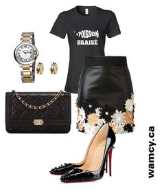 """""""Women in black"""" by wa-m-cy on Polyvore featuring Cartier, Chanel, Emanuel Ungaro and Christian Louboutin"""