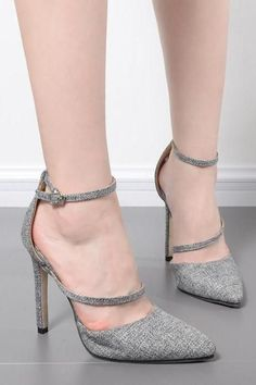70d56ee4d7 Low Cut Pointed Toe Ankle Wrap Stiletto High Heels Shoes #shoes  #shoesaddict #stiletto. Luulla