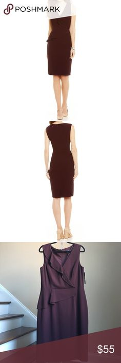 "🆕 Antonio Melani Dress Beautiful crepe sheath dress from Antonio Melani. Lined. Shell 63% Polyester, 33% Viscose, 4% Elastane. Lining 94% Polyester, 5% Elastane. Color on tag Plum. Approx. measurements: bust 39"", waist 34"", hips 44"", length 41.5"".🚨Price firm unless bundled! 🚨 ANTONIO MELANI Dresses"