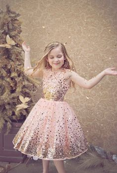 Holiday Gloria Glitter Dress Preorder<br>4 to 16 Years