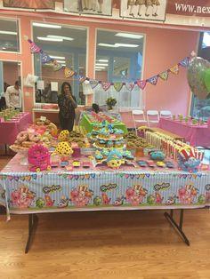 shopkins birthday dessert table