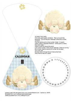 sheep wobble card any year calendar on Craftsuprint - Add To Basket!