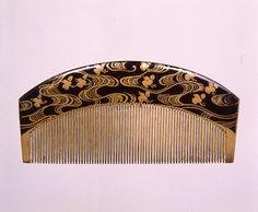 「波千鳥蒔絵櫛」江戸時代~明治時代 19世紀  サントリー美術館