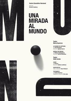 """""""Mirada al mundo"""" by Isidro Ferrer para el Centro Dramático Nacional (2014)"""