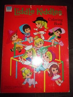 jewelry kiddles 1960s | Vintage Whitman Liddle Kiddles Coloring Book 1970