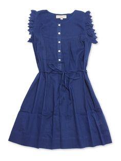 April Lemon Dress In Indigo