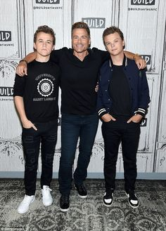 Family affair: Rob Lowe, posed between his sons John Owen (L) and Matthew Monday as the trio promoted their new A&E program The Lowe Files Rob Lowe Sons, John Owen Lowe, Celebrity Stars, Good Morning America, Family Affair, Man Alive, Boyfriends, Lowes, My Best Friend