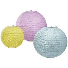 Eyelet Lantern Reception Decor - think vintage spring wedding.