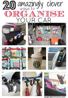 Amazingly Clever ways to Organise your Car 20 amazingly clever ways to organise your car! So many genius ideas! You must have this in your amazingly clever ways to organise your car! So many genius ideas! Organizing Hacks, Car Cleaning Hacks, Car Hacks, Car Life Hacks, Organising, Organizer Auto, Car Organizers, Car Boot Organiser, Cute Car Accessories
