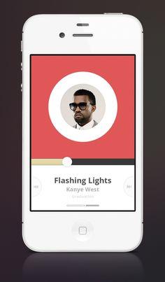 Nice Media Player for iOS. Via: http://drbl.in/ebcj #ui #design #webdesign #graphic