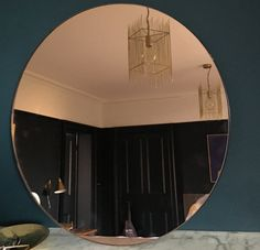Rose gold mirror which is part of the collection rose gold grey and brass. Round and bold statement to my bedroom. Love it.