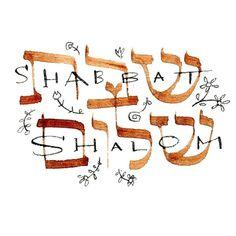 Gifts & Designs by Madi von MadEDesignsStudio Torah, Shabbat Shalom In Hebrew, Bon Sabbat, Good Shabbos, Shavua Tov, Hebrew Prayers, Messianic Judaism, Jewish Celebrations, Happy Sabbath
