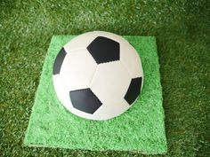 spinning soccer cake with video tutorial