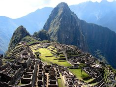 Machu Picchu, Peru.  On the top of my list of places I must see before I die.
