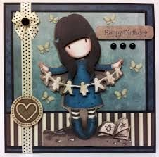As featured in Crafts Beautiful Magazine. Made using Gorjuss Decoupage. Homemade Birthday Cards, Homemade Cards, Baby Cards, Kids Cards, Envelopes, Hand Made Greeting Cards, Crafts Beautiful, Tampons, Copics