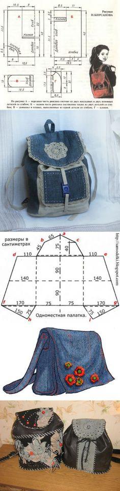 Рюкзак выкройка своими руками. - Каталог сумочек, клатчей, портфелей, чемоданов и рюкзаков 2015 года: