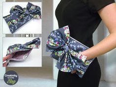 Pleated Clutch with Big Bow | Sew4Home