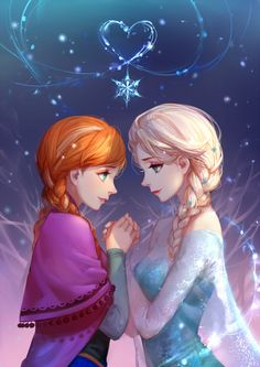 Frozen: Anna & Elsa by ASK on Pixiv