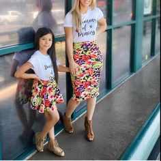 s Clothing Children' Twin Outfits, Mommy And Me Outfits, Cute Outfits For Kids, Girl Outfits, Mother Daughter Matching Outfits, Mother Daughter Fashion, Mom Daughter, Mommy And Me Swimwear, Color Combinations For Clothes