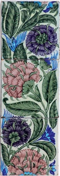 William De Morgan tile panel. Catleugh collection.