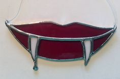 Handmade Stained Glass Vampire Lips/Fangs by QTSG on Etsy