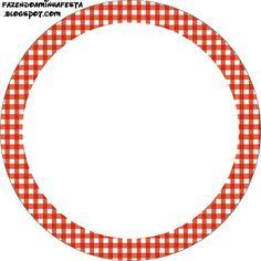 Xadrez Vermelho e Branco - Kit Completo com molduras para convites, rótulos para guloseimas, lembrancinhas e imagens!