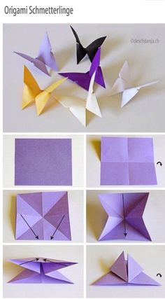 Origami Butterflies  #Various #Musely #Tip