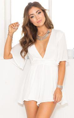 1e0eb5fb414 nice white dress Blue Playsuit