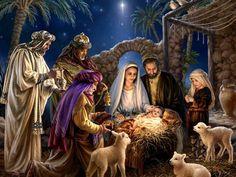 Christmas Greeting Card Nativity Scene by Dona Gelsinger - Puzzles . Christmas Jesus, Christmas Nativity Scene, Christmas Scenes, Christmas Pictures, Christmas Art, Vintage Christmas, Nativity Scenes, Christmas Meaning, Christmas Medley