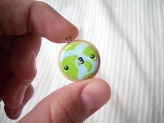 ~ Earth Cookie Charm ~ by CocoCharms.deviantart.com