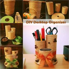 Another cute organizer idea. Get your supplies from Sheila's Home Office your source for best modern office decor.