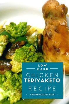 Low Carb Chicken Teriyaketo! Sugar-free Chicken Teriyaki stir fry for a ketogenic diet. Grain-free, gluten-free, keto, low carb, stir fry, easy and delicious.