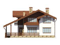 проект дома шале 180 кв метров