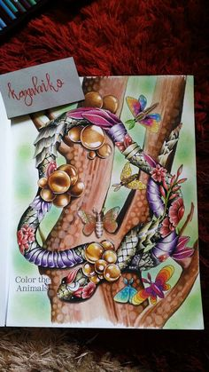 Done my Ucing! Book: Color the Rainforest by Medium: Prismacolor Adult Coloring, Coloring Books, Chapters Indigo, Prismacolor, Colored Pencils, Exotic, Arts And Crafts, Butterfly, Moth