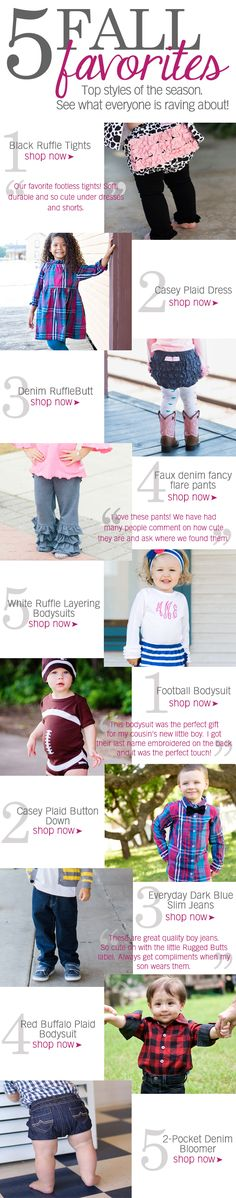 Some of our fall favorites from Rufflebutts!