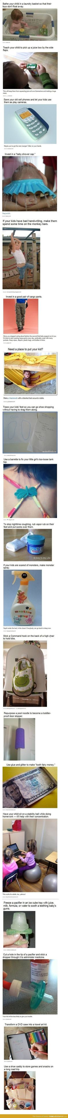 These are such good ideas!