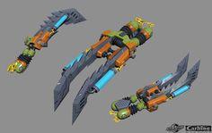 ArtStation - Wildstar Weapons - Low Poly, Aaron Cruz