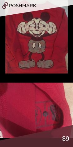 Disney vintage Mickey Mouse long sleeve 2t Excellent used condition. Smoke free home. Barely worn. Disney Shirts & Tops Tees - Long Sleeve