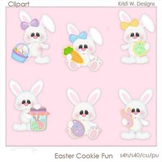 DIGITAL SCRAPBOOKING CLIPART  Easter Cookies Fun by BoxerScraps, $1.00