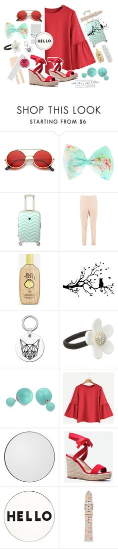 """⋆ red hair and saltwater ⋆"" by shuushi ❤ liked on Polyvore featuring ZeroUV, Boohoo, Sun Bum, Marc Jacobs, Bling Jewelry, JustFab, Lisa Perry and FOSSIL"