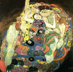 It is a cavernous earth of labyrinthine intricacy, twenty-seven folds of opaqueness, and finishes where the lark mounts  Paintings by Gustav Klimt