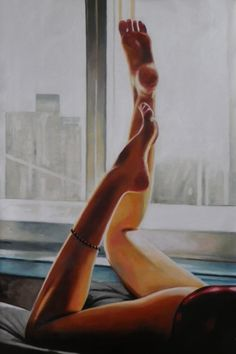 View Thomas Saliot's Artwork on Saatchi Art. Find art for sale at great prices from artists including Paintings, Photography, Sculpture, and Prints by Top Emerging Artists like Thomas Saliot. Thomas Saliot, Leg Painting, Leg Art, Art Thomas, Women Legs, Illustrations, Up Girl, Portrait, Erotic Art