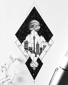 Dibujo Thin Hair Cuts blunt cuts for thin hair Space Drawings, Cool Drawings, Stippling Art, Kunst Tattoos, Desenho Tattoo, Watercolor Fashion, Black And White Illustration, Ink Illustrations, Art Graphique