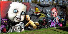 Wall paints, Muurschilderingen, Peintures Murales,Trompe-l'oeil, Graffiti, Murals, Street art.: Maarssenbroek - Netherlands