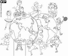 Omalovánka Světový den fyzické aktivity, 6 dubna