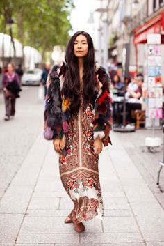 #FashionMath Amp up the bohemian rhapsody by combining a summer maxi with a chic vintage winter coat. #THEOUTNET